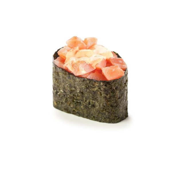 Фото 53 - Спайси суши копченный лосось.