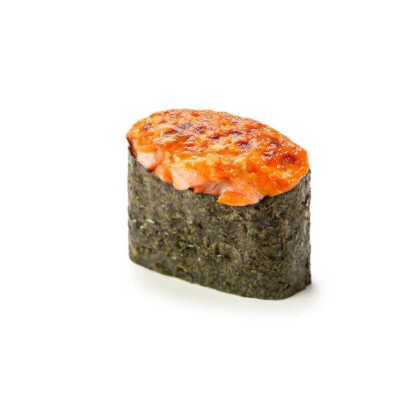 Фото 42 - Запеченные суши с копченным лососем.